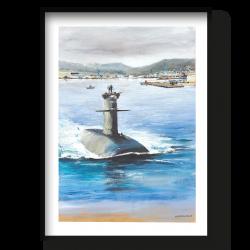 """Départ en mission du sous marin nucléaire d'attaque """"Saphir"""""""
