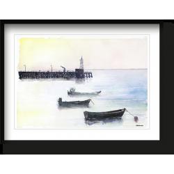 Aurore à la fenetre, ou le port de Cancale